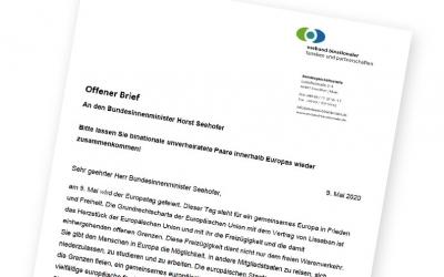 Offener Brief an Horst Seehofer: Einreise für binationale unverheitate Paare in Europa wieder erlauben